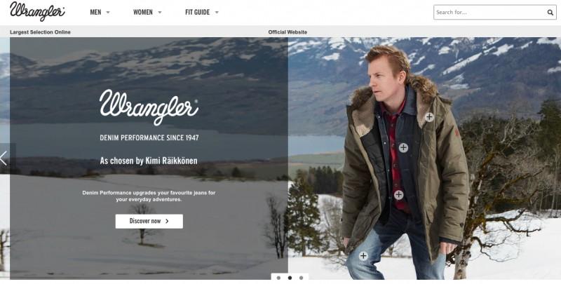 Официальный сайт интернет-магазина Wrangler