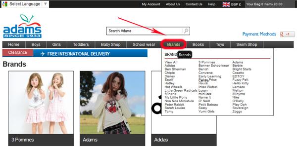 Adams Kids - популярный интернет-магазин качественной английской детской одежды