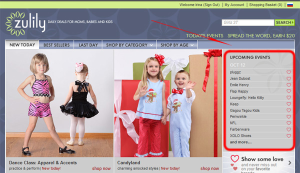 Zulily - магазин закрытых распродаж детской одежды, обуви и аксессуаров