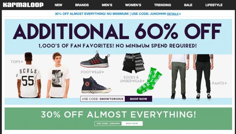 Американский интернет-магазин одежды Karmaloop