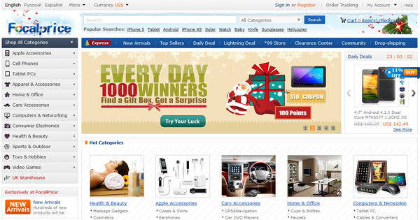 Обзор популярного китайского интернет-магазина FocalPrice (Фокалпрайс)