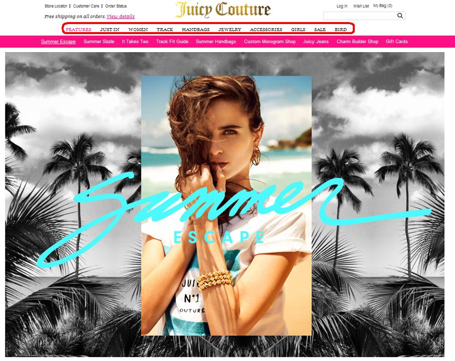 Juicy Couture сайт
