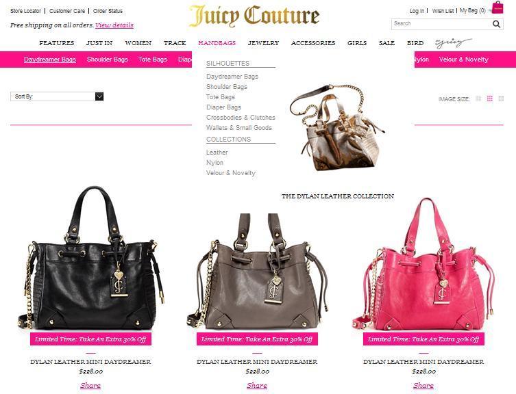 Сумки Juicy Couture