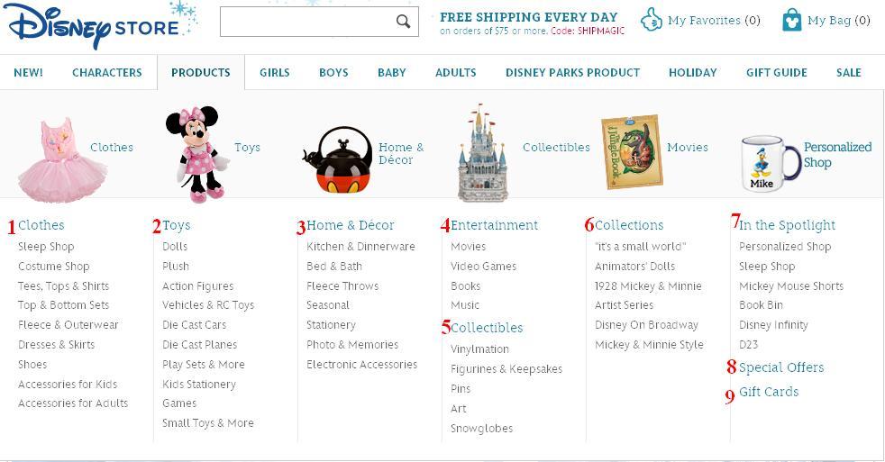 Disneystore - магазин детских товаров