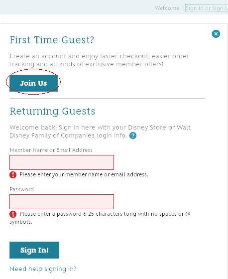 Как заказать на Disneystore