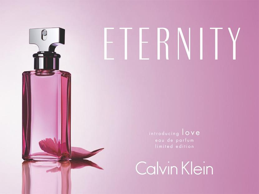 Реклама популярных духов Eternity Calvin Klein