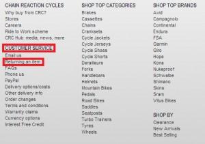 Возврат товара Chainreactioncycles.com
