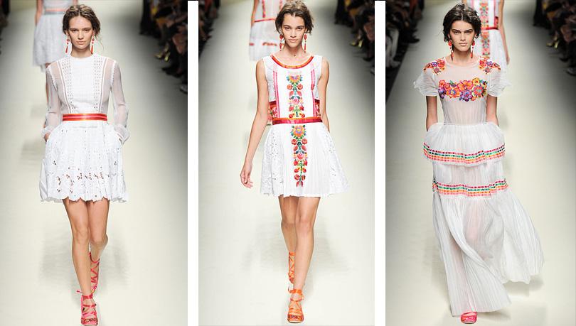Женские платья новой коллекции Alberta Ferretti