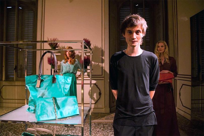 Александр Терехов на показе коллекции  сумок для Coccinelle