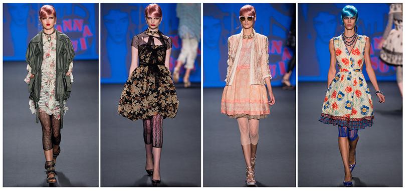 На фото — коллекция женских платьев от Anna Sui
