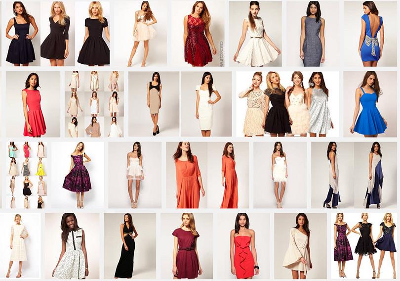 Коллекция женских платьев бренда Asos