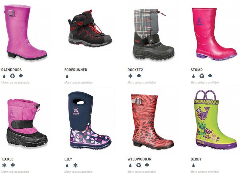 Коллекция зимней детской обуви Kamik