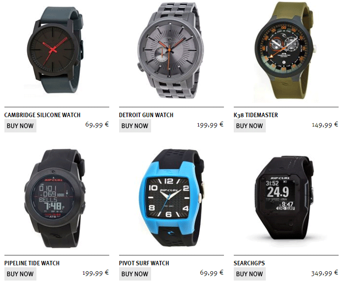 Популярные часы Rip Curl с ценами