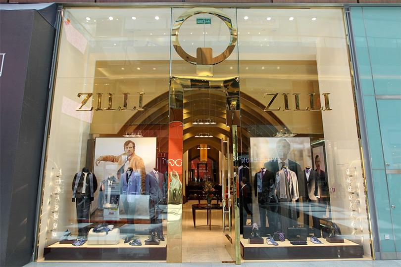 Витрина магазина Zilli