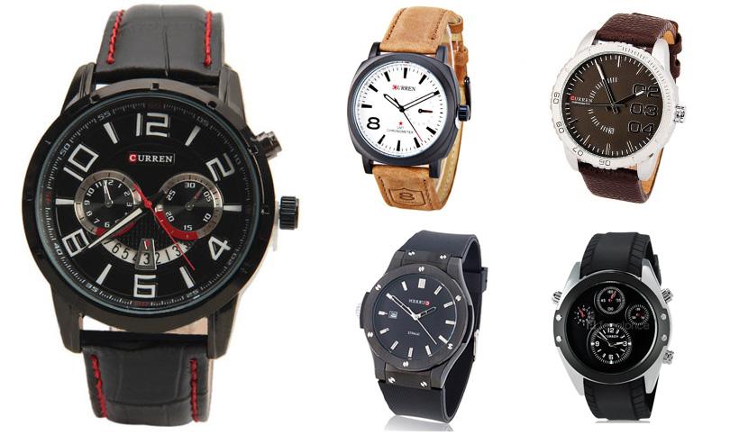 Варианты дизайна часов Curren (Каррен)