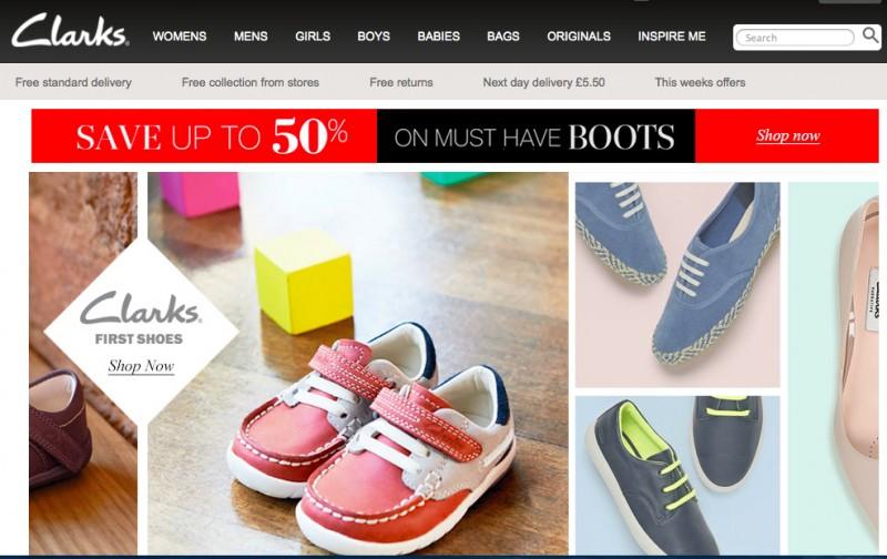 Интернет-магазин британской обуви Clarks