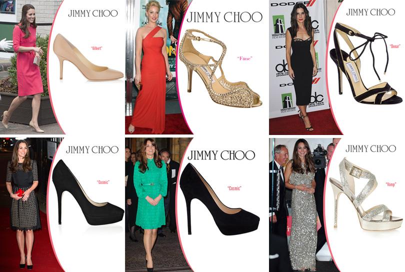 Знаменитости на ковровых дорожках в обуви Jimmy Choo