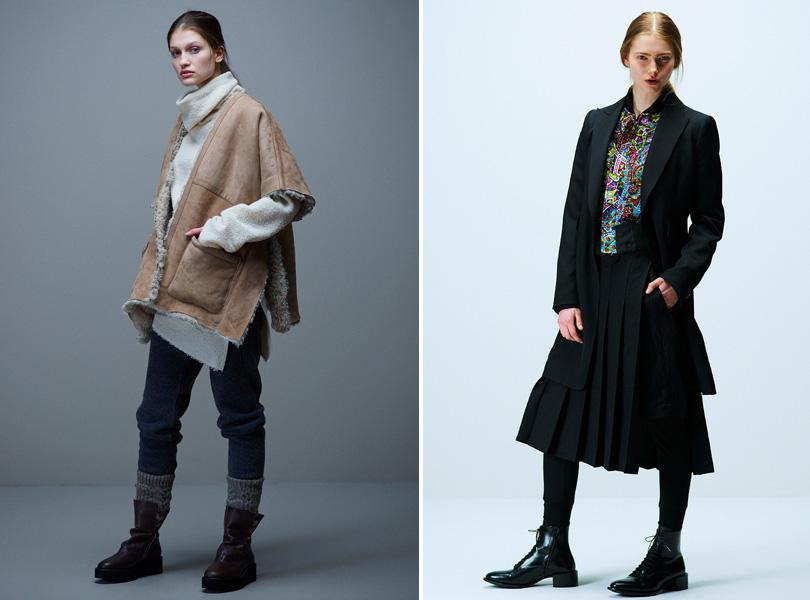 Женская одежда Йоджи Ямамото из новой коллекции