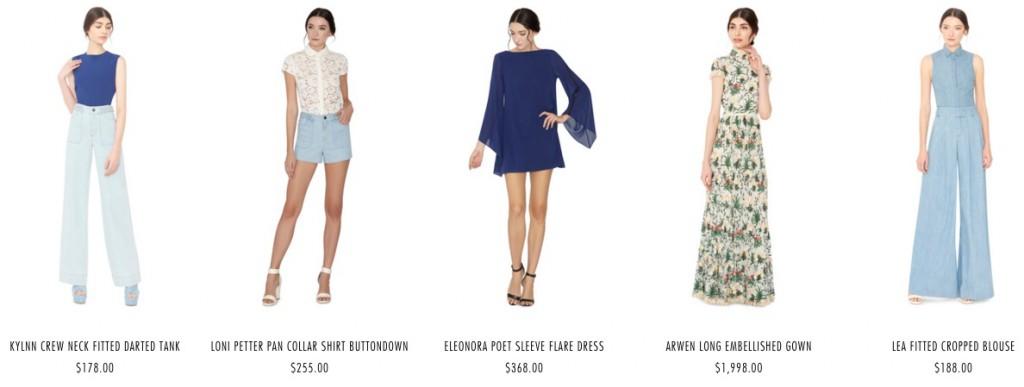 Одежда из коллекции Alice and Olivia 2019 года